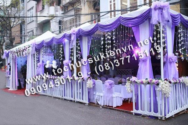 Cho thuê khung rạp đám cưới tại TpHCM và các tỉnh lân cận 2