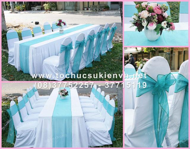Các mẫu bàn ghế tiệc cưới HCM 5