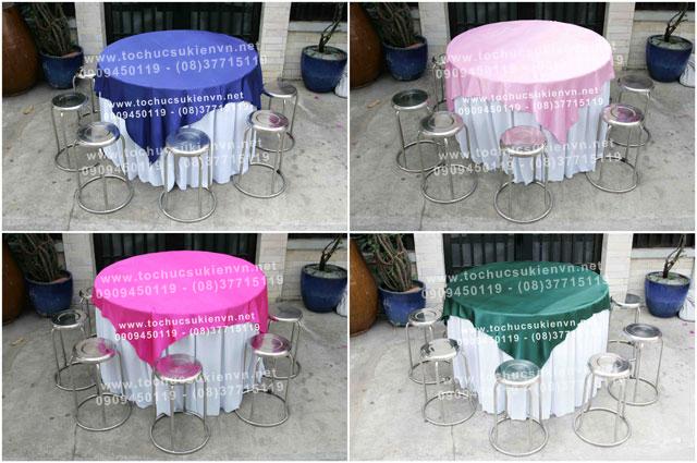Cho thuê bàn ghế inox 3