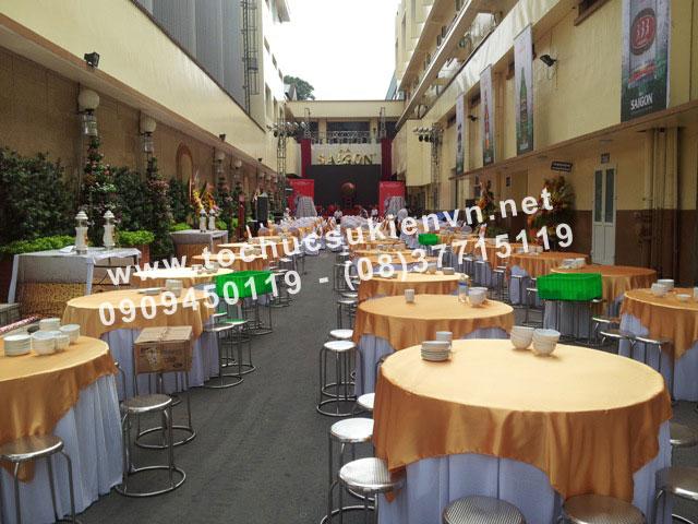 Cho thuê bàn ghế inox Ngàn Thông