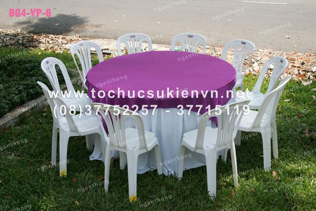 Cho thuê bàn ghế nhựa ngoài trời 3