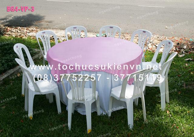 Cho thuê bàn ghế nhựa ngoài trời 5