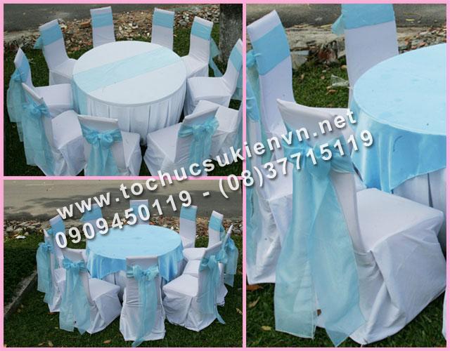 Cho thuê bàn tròn tiệc Ngàn Thông TPHCM 2
