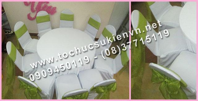 Cho thuê bàn tròn tiệc giá rẻ TPHCM 9