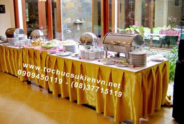 Cho thuê bàn tiệc buffet TPHCM