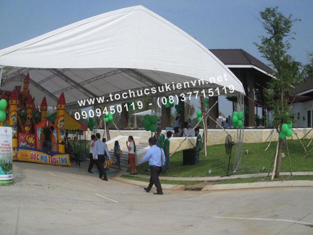Cho thuê nhà lều nhà bạt trụ tròn 14
