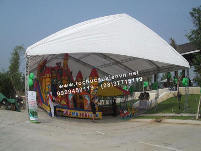 Cho thuê nhà lều nhà bạt trụ tròn 15