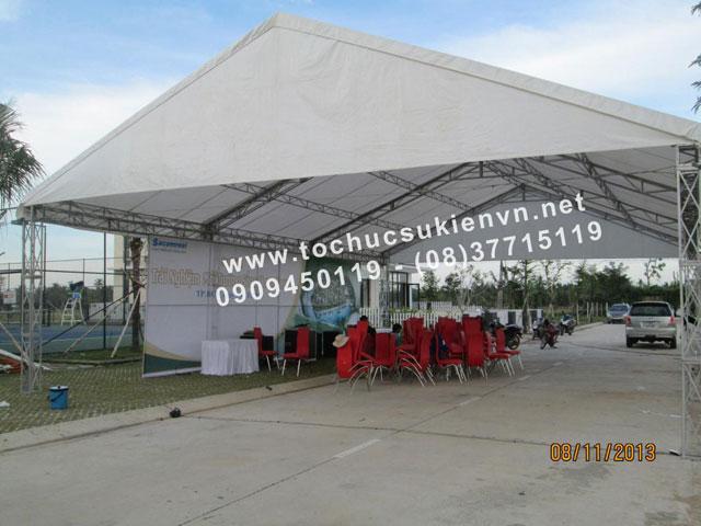 Cho thuê nhà lều nhà bạt trụ tròn 16
