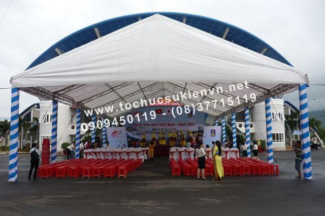 Cho thuê nhà lều nhà bạt trụ tròn TPHCM 2