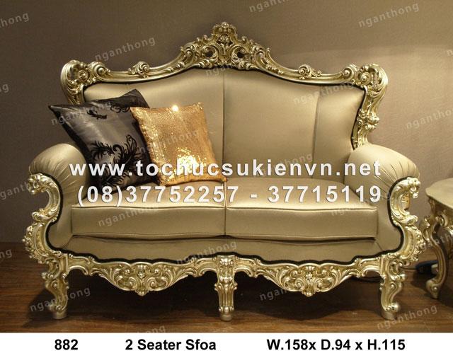 Cho thuê bàn ghế sofa 2