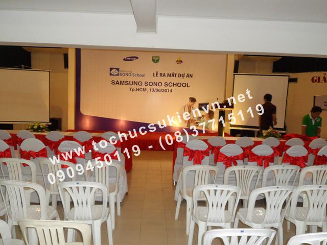Tổ chức lễ ra mắt dự án Samsung Sono School