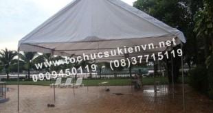 Cho thuê nhà lều nhà bạt trụ tròn TPHCM 3