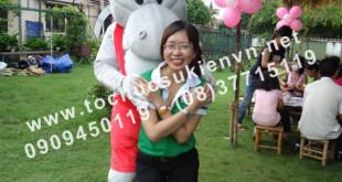 Cho thuê mascot gấu pooh, chuột micky Ngàn Thông 7