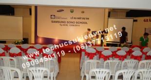 Lễ ra mắt dự án Samsung Sono School với Ngàn Thông