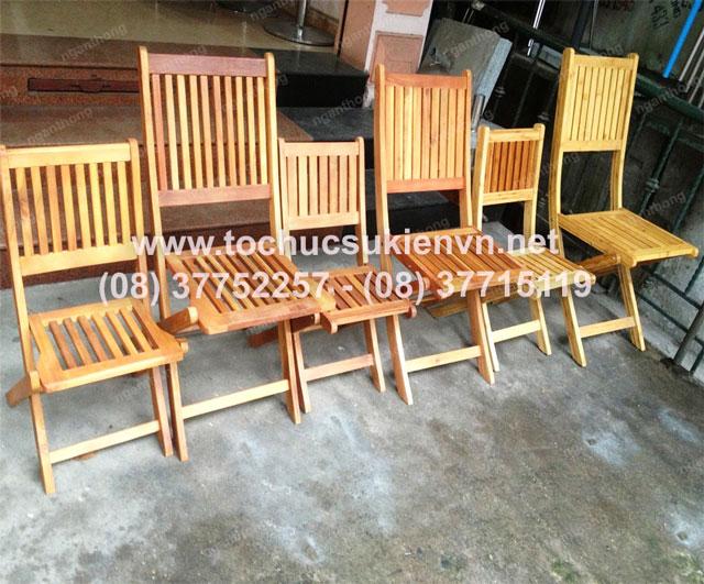cho thuê bàn ghế gỗ ngoài trời 2