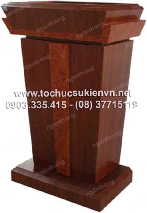 Cho thuê bục phát biểu gỗ - inox 11