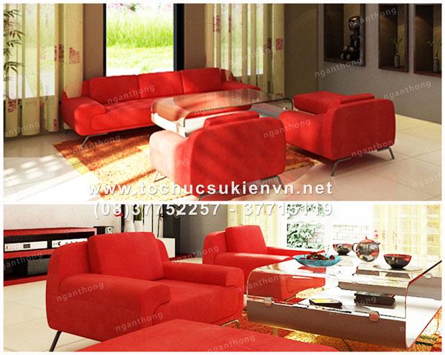 Cho thuê bàn ghế sofa 3