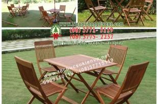 Cho thuê bàn ghế ngoài trời cho café sân vườn