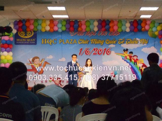 Cho thuê bục sân khấu tổ chức chương trình  1/6 HQC Plaza 3