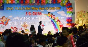 Cho thuê bục sân khấu tổ chức chương trình 1/6 HQC Plaza 14