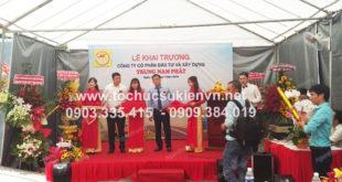 Cho thuê bục sân khấu khai trương Trung Nam Phát 6