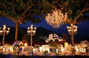 Cách thiết lập ánh sáng cho tiệc cưới ngoài trời