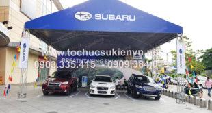 Cho thuê bàn ghế tại gian hàng tư vấn Subaru 2