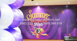 Ngàn Thông - thiết kế backdrop tổ chức hợp mặt summer gala