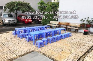 Cho thuê bàn ghế nhựa cao cấp