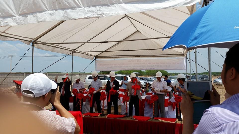 Tổ chức lễ khởi công công ty tnhh Sung A Vina