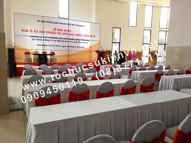 Cho thuê bàn ghế - Lễ bàn giao nhà ở xã hội nhà nước – Đức Khải