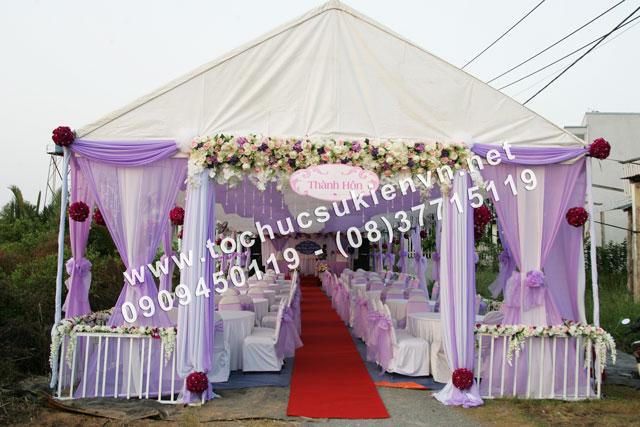 Cho thuê khung rạp đám cưới tại TpHCM  2