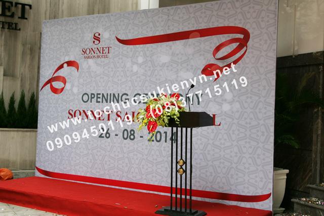 Trang trí tại lễ khai trương khách sạn Sonnet  2