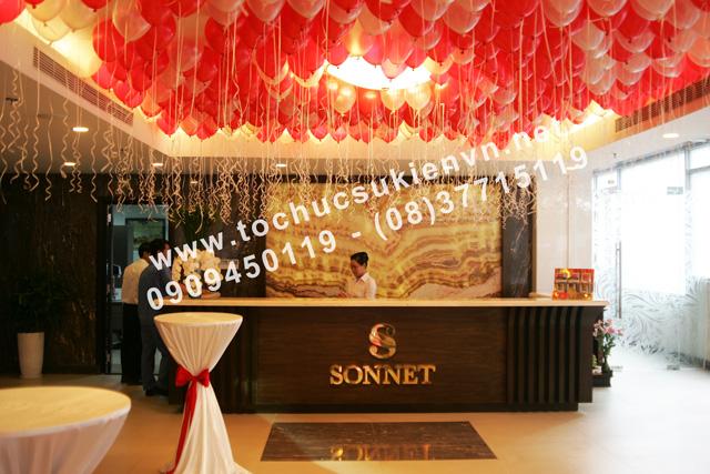 Trang trí tại lễ khai trương khách sạn Sonnet  7