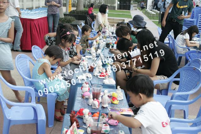 Hoạt động ngoài trời tại lễ tổ chức ngày hội thiếu nhi Saigon Pearl