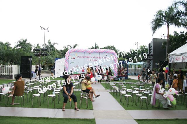 Hoạt động ngoài trời tại lễ tổ chức ngày hội thiếu nhi Saigon Pearl 4
