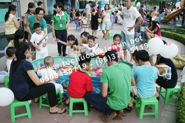 Hoạt động ngoài trời tại lễ tổ chức ngày hội thiếu nhi Saigon Pearl 6