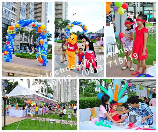 Hoạt động ngoài trời tại lễ tổ chức ngày hội thiếu nhi Saigon Pearl 8