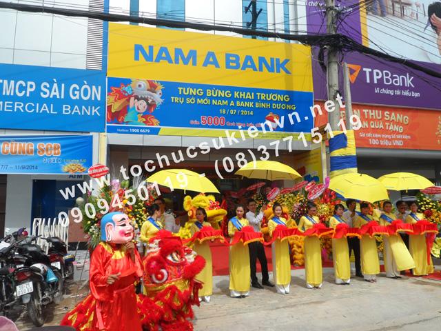 Tổ chức lễ khai trương chi nhánh mới của Ngân Hàng Nam Á ở Bình Dương 5