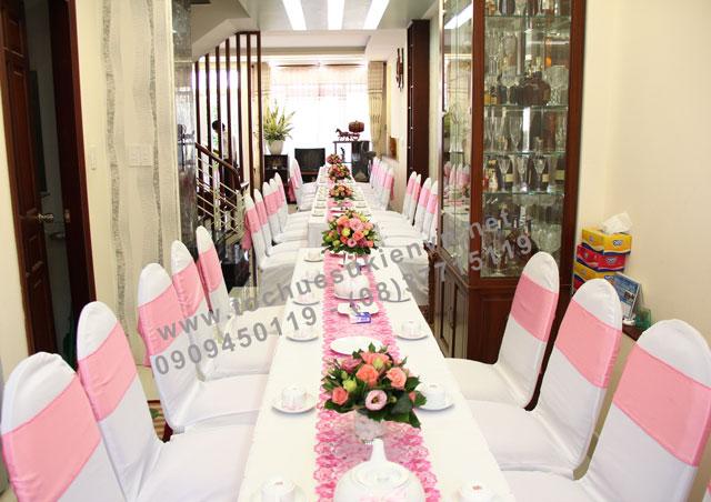 Các mẫu bàn ghế tiệc cưới Ngàn Thông 3
