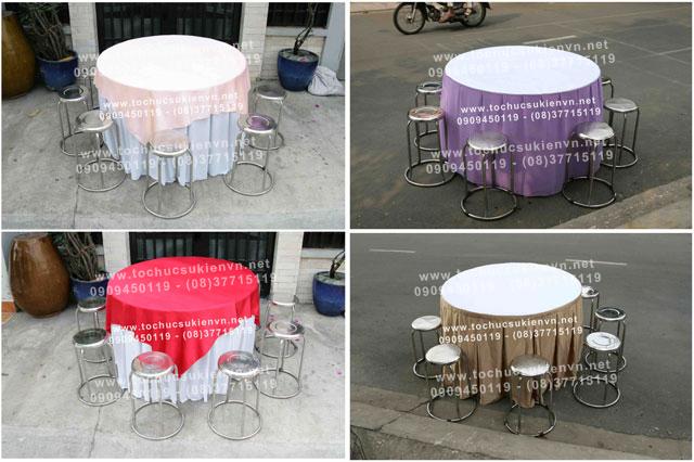 Cho thuê bàn ghế inox TPHCM
