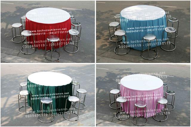 Cho thuê bàn ghế inox TPHCM 3