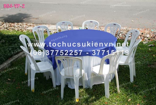 Cho thuê bàn ghế nhựa ngoài trời 4