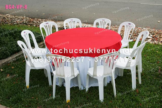 Cho thuê bàn ghế nhựa ngoài trời 6