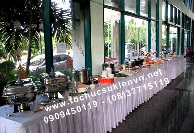 Cho thuê bàn tiệc buffet