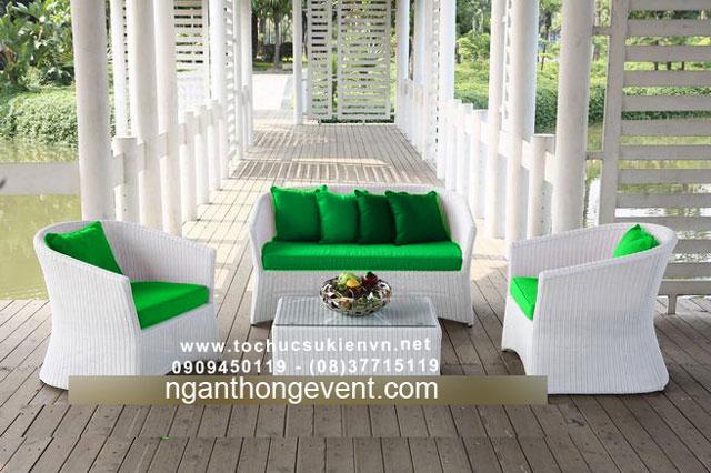 Cho thuê bàn ghế sofa ngoài trời