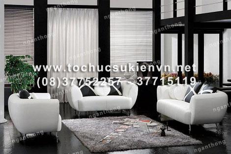 Cho thuê bàn ghế sofa cao cấp 3