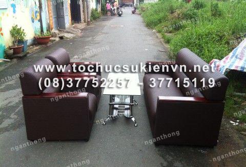 Cho thuê bàn ghế sofa sự kiện