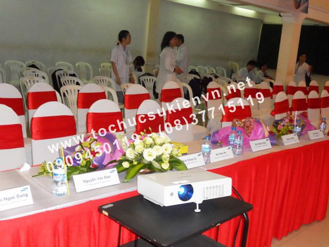 Cho thuê bàn ghế lễ ra mắt dự án Samsung Sono School