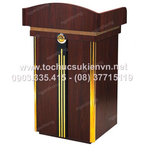 Cho thuê bục phát biểu gỗ - inox 13